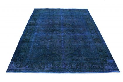 Carpetido Design Vintage-Teppich Blau in 330x250