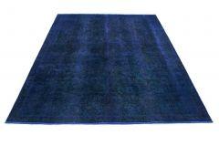 Carpetido Design Vintage-Teppich Blau in 310x230