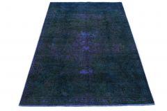 Carpetido Design Vintage-Teppich Blau in 240x150