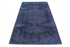 Carpetido Design Vintage-Teppich Blau in 270x160