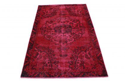 Carpetido Design Vintage-Teppich Rot in 190x120