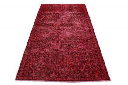 Carpetido Design Vintage-Teppich Rot in 280x150