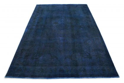 Carpetido Design Vintage-Teppich Blau in 300x200