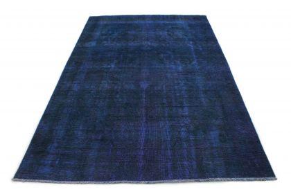 Carpetido Design Vintage-Teppich Blau in 290x190