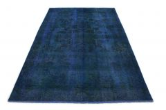 Carpetido Design Vintage-Teppich Blau in 280x180