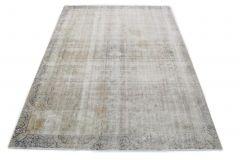 Carpetido Design Vintage-Teppich Hellgrau Blau in 370x260