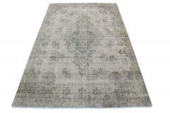 Carpetido Design Vintage-Teppich Hellgrau Blau in 370x230