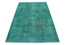 Carpetido Design Vintage-Teppich Türkis Grün in 310x200