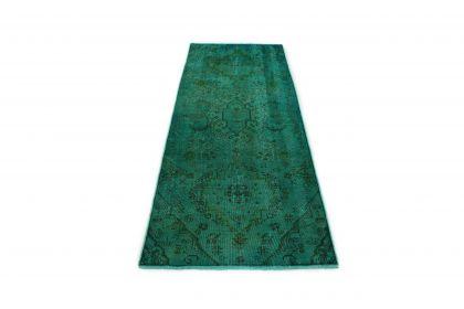 Carpetido Design Vintage-Teppich Läufer Grün in 230x90