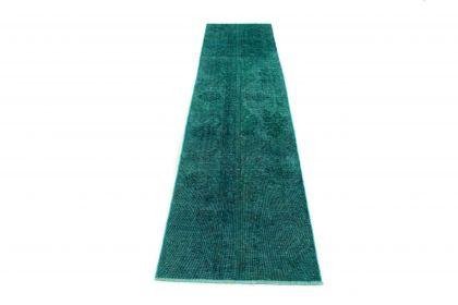Carpetido Design Vintage-Teppich Türkis Grün in 300x70
