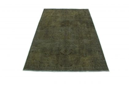 Carpetido Design Vintage-Teppich Olivgrau in 240x150