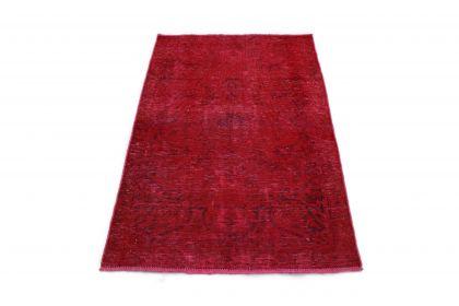 Carpetido Design Vintage-Teppich Rot in 150x100
