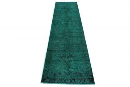 Carpetido Design Vintage-Teppich Grün in 400x100