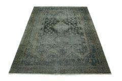 Carpetido Design Vintage-Teppich Grau Blau in 220x150