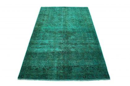 Carpetido Design Vintage-Teppich Grün Türkis in 220x130