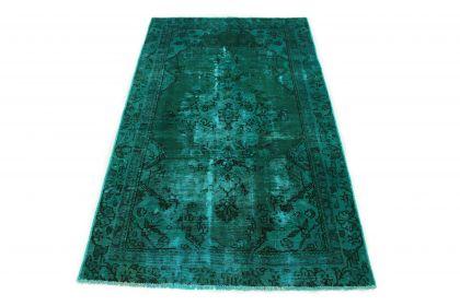 Carpetido Design Vintage Rug Green Turquoise in 190x110