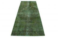 Carpetido Design Vintage-Teppich Läufer Grün in 340x140