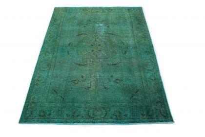 Carpetido Design Vintage-Teppich Türkis in 190x140