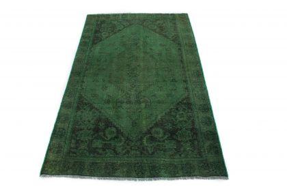 Carpetido Design Vintage-Teppich Grün in 200x120