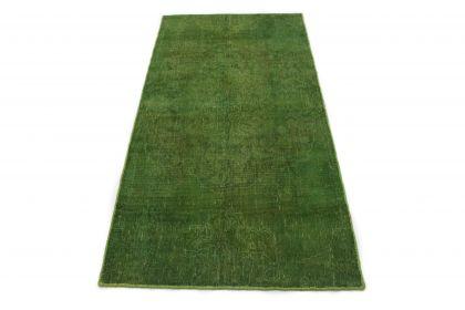 Carpetido Design Vintage-Teppich Grün in 210x110