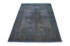 Carpetido Design Vintage-Teppich Lila in 190x140