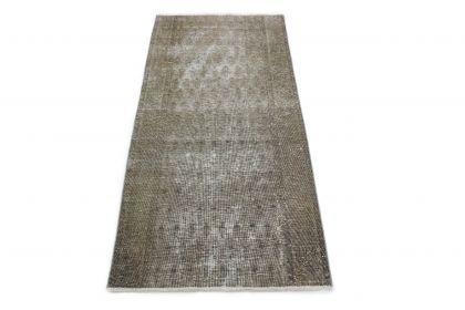 Carpetido Design Vintage-Teppich Läufer Grau in 180x80