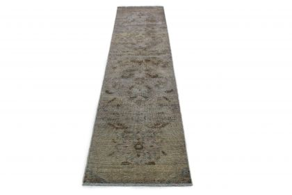 Carpetido Design Vintage Rug Runner Gray in 270x70