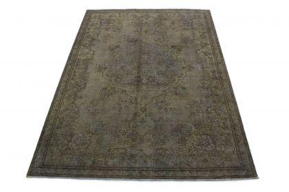 Carpetido Design Vintage-Teppich Grau Schlamm in 320x230