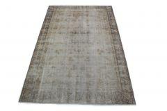 Carpetido Design Vintage-Teppich Hellgrau Blau in 300x190