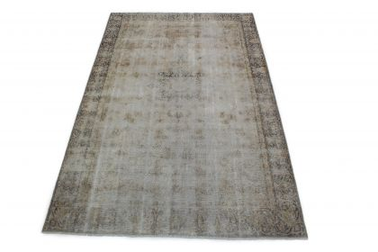 Carpetido Design Vintage Rug Light Gray Blue in 300x190