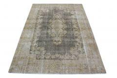 Carpetido Design Vintage-Teppich Hellgrau Grau in 320x220