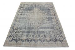Carpetido Design Vintage-Teppich Hellgrau Blau in 300x210