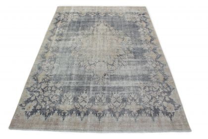 Carpetido Design Vintage Rug Light Gray Blue in 300x210