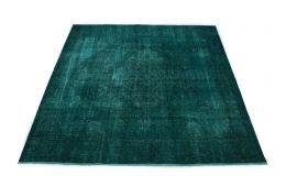 Carpetido Design Vintage Rug Petrol Turquoise in 270x270