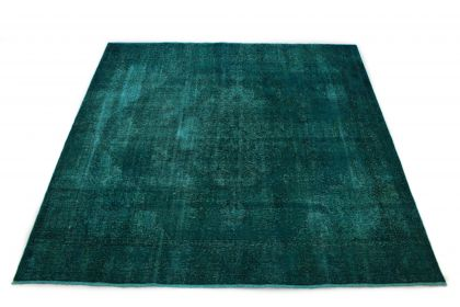 Carpetido Design Vintage-Teppich Petrol Türkis in 270x270