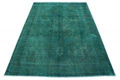 Carpetido Design Vintage-Teppich Petrol Türkis in 360x260