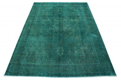 Carpetido Design Vintage Rug Petrol Turquoise in 360x260
