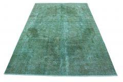 Carpetido Design Vintage-Teppich Türkis in 320x220
