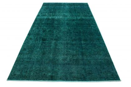 Carpetido Design Vintage Rug Petrol Turquoise in 410x220
