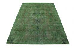 Carpetido Design Vintage-Teppich Grün Braun in 330x240