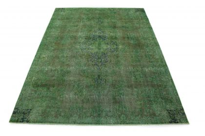 Carpetido Design Vintage Rug Green Brown in 330x240