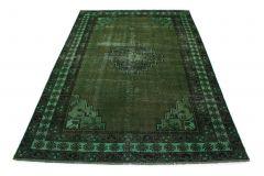 Carpetido Design Vintage-Teppich Grün in 320x220