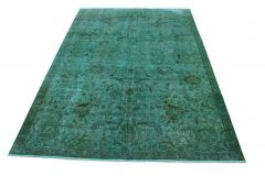 Carpetido Design Vintage-Teppich Türkis in 330x230