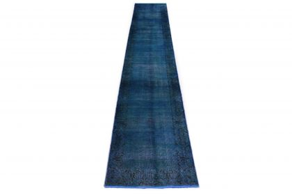 Carpetido Design Vintage Rug Blue in 490x80