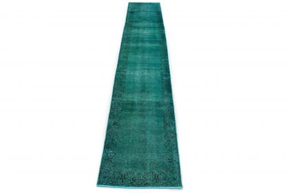 Carpetido Design Vintage-Teppich Türkis in 490x80
