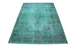 Carpetido Design Vintage-Teppich Türkis in 300x220