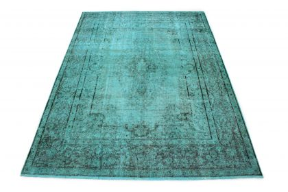 Carpetido Design Vintage Rug Turquoise in 300x220
