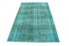 Carpetido Design Vintage-Teppich Türkis in 290x180