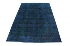 Carpetido Design Vintage-Teppich Blau in 290x200