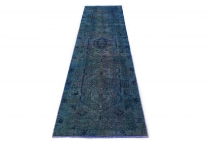 Carpetido Design Vintage Rug Runner Blue in 320x90